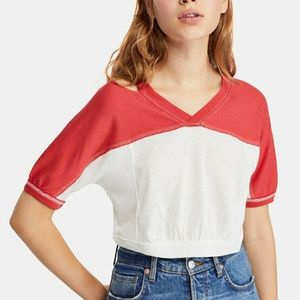 NWT Free People Colorblocked cutout